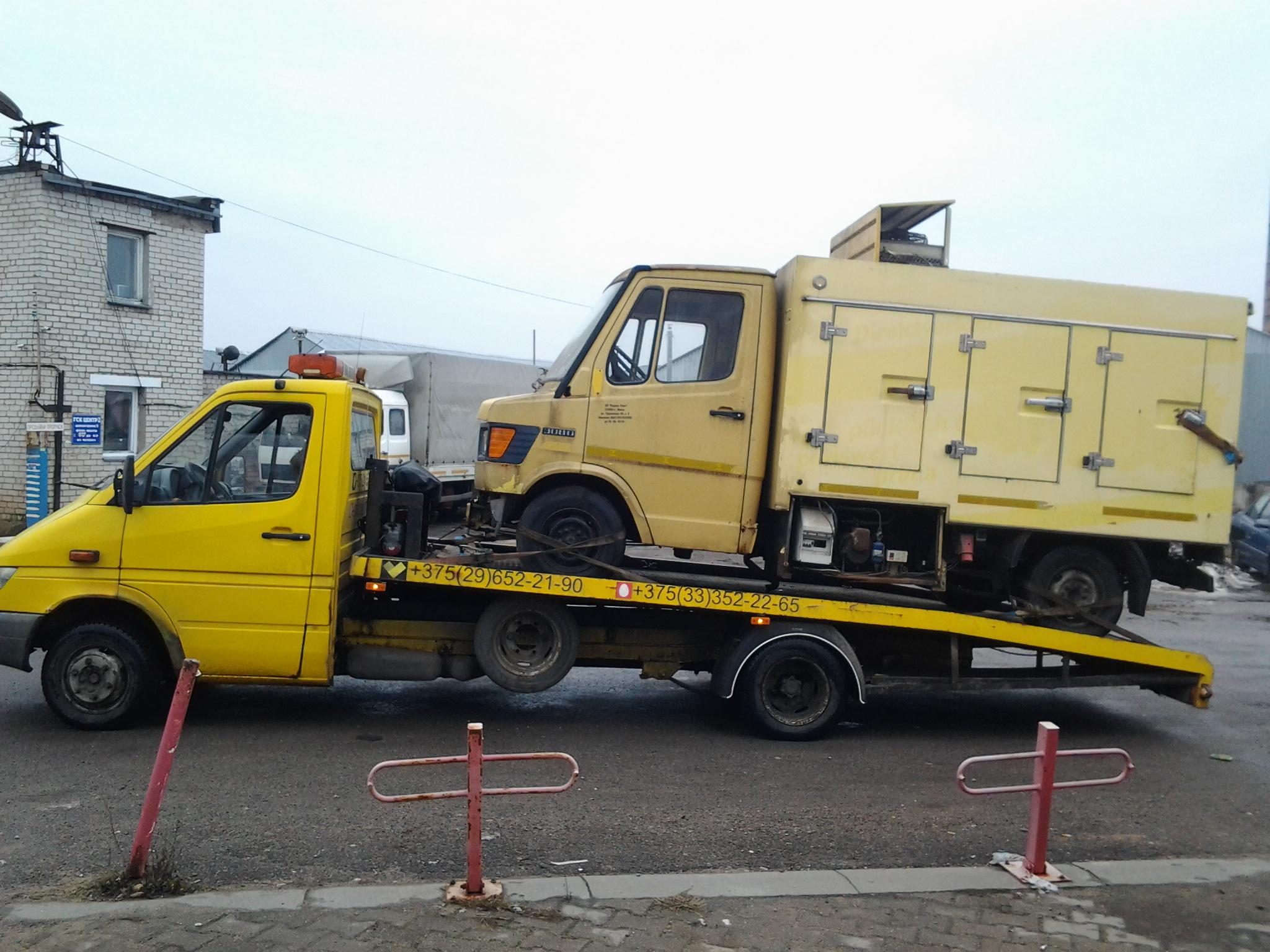 Эвакуация грузовых автомобилей. Особенности транспортировки грузовиков
