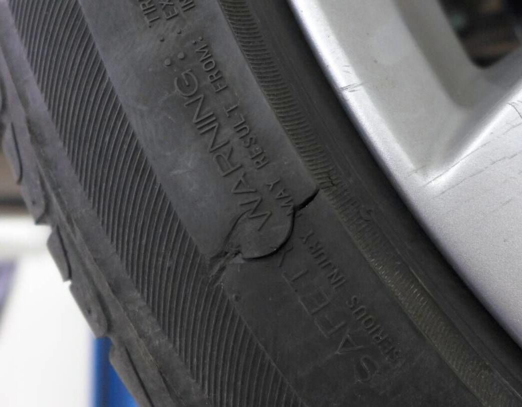Ремонт боковых порезов шин. Вулканизация